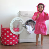 pink star laundry basket and toy storage