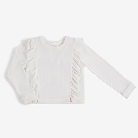 Ruffle Top - White - 2-5y