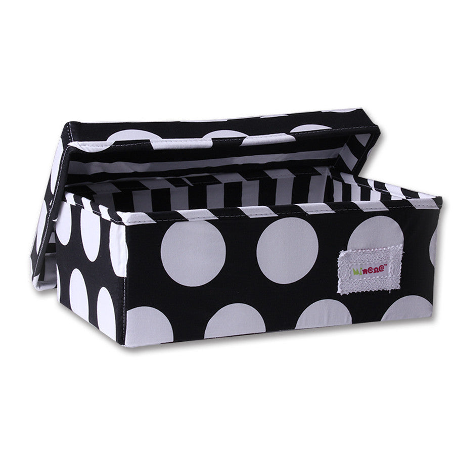 Small Storage Box - Black and White Circles