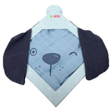 Bamboo Muslin Blanket - Blue Dog