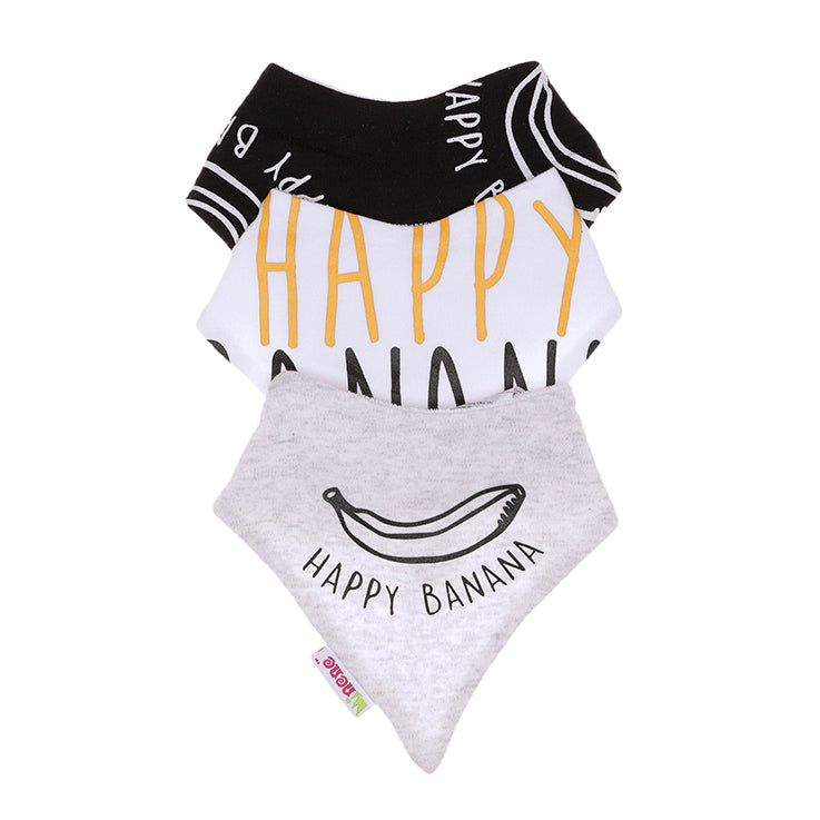Baby Bandana Bibs -  3 pack - Happy Banana