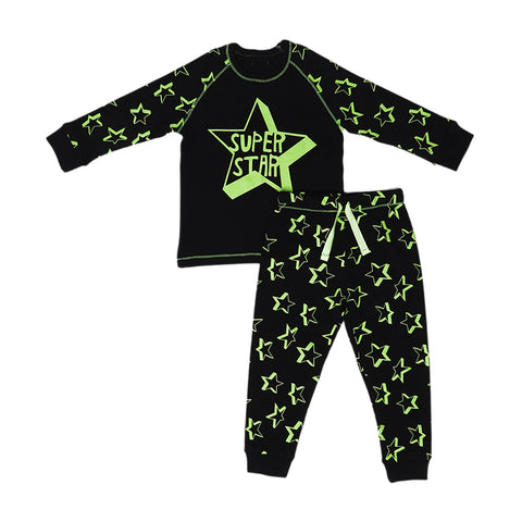 Kids Pyjamas - Black Neon - 2years - 7years