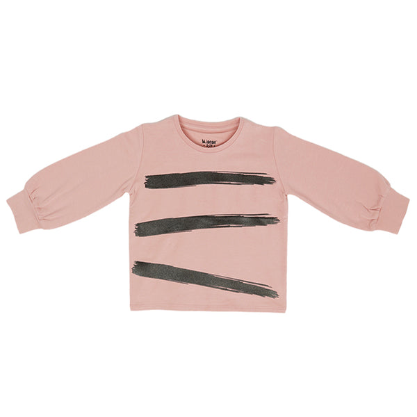 Printed Top - Pink and Black - 2-7y