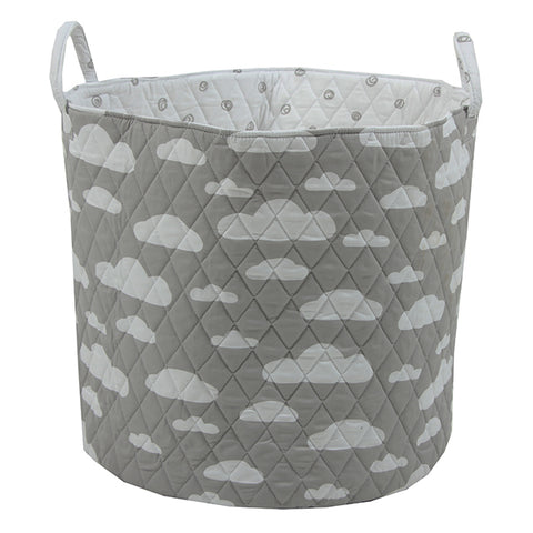 Large Storage Basket - Grey Clouds
