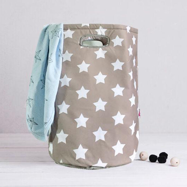Storage Bag - Laundry Basket - Water resistant - Grey Star