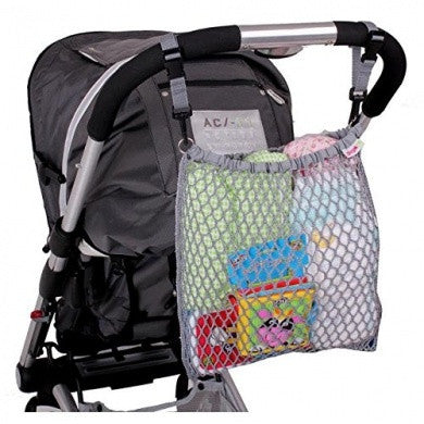 grey stroller net nag for extra pushchair storage