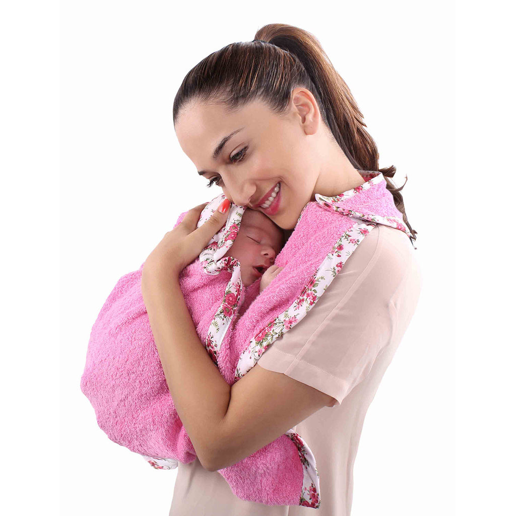 Hooded Newborn Towel - Pink