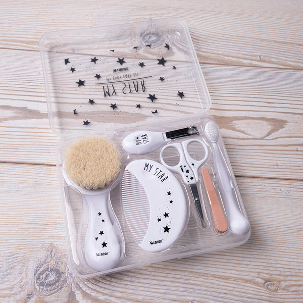 Baby Grooming Kit - White Stars