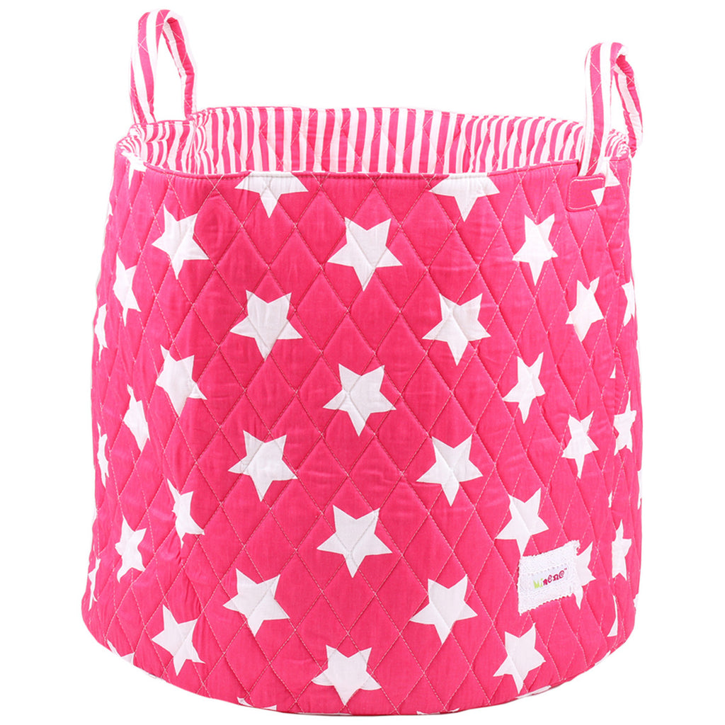 bright pink star storage for girls bedrooms and toy storage