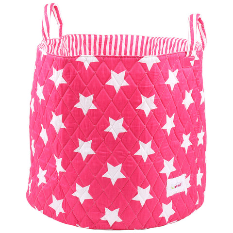 Large Storage Basket - Pink Stars