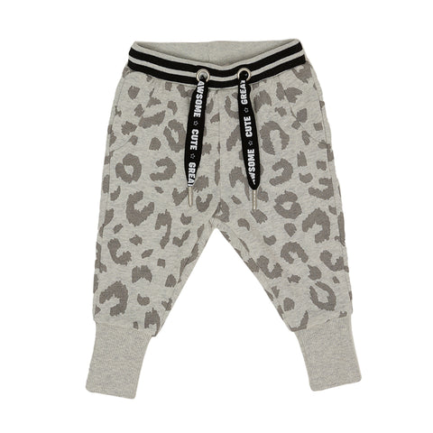 Grey Leopard Trousers - 2-7years