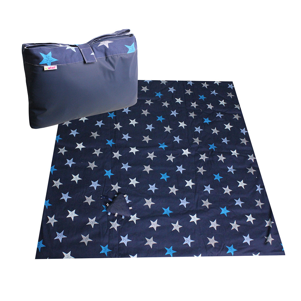 Portable Activity Blanket - Navy Stars