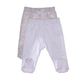 Baby Trouser Set - Rainbow - Grey and White
