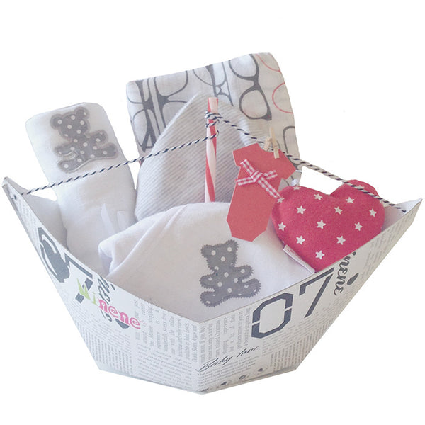 Baby Gift - Little Sailor - Grey and White