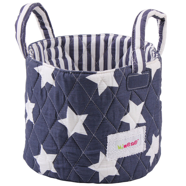 Small Storage Basket - Navy Stars
