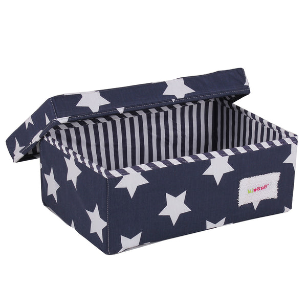 Small Storage Box - Navy Stars