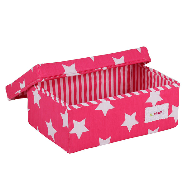 Small Storage Box - Pink Stars
