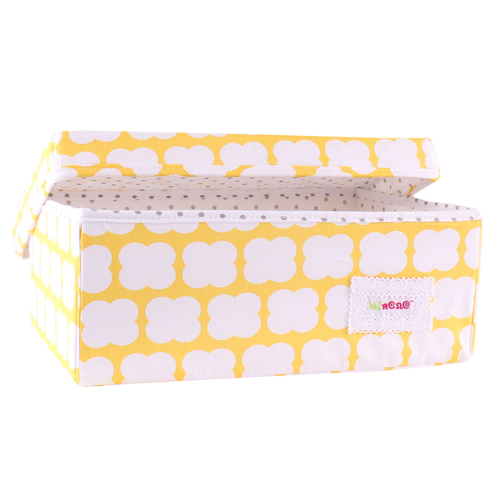 Small Storage Box - Yellow Puff
