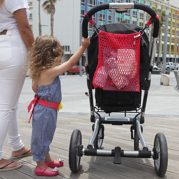 Pushchair Net Bag - Strawberry Red