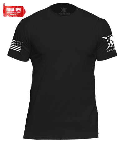 WARRIOR PATRIOTIC BASIC PREMIUM MEN T-SHIRT - BLACK - MasterWorks Clothing Co.