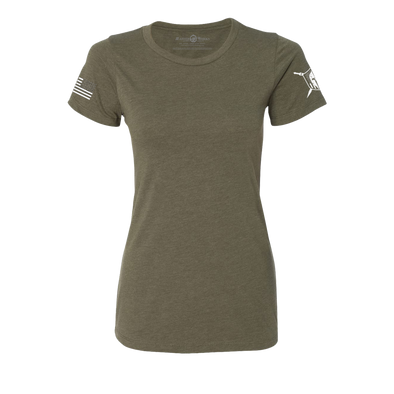 Women Warriors Basic Premium T-Shirt Military Green - MasterWorks Clothing Co.