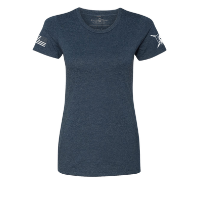 Women Warrior Basic Premium T-Shirt Midnight Navy - MasterWorks Clothing Co.