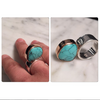 Turquoise sculpture on your hand