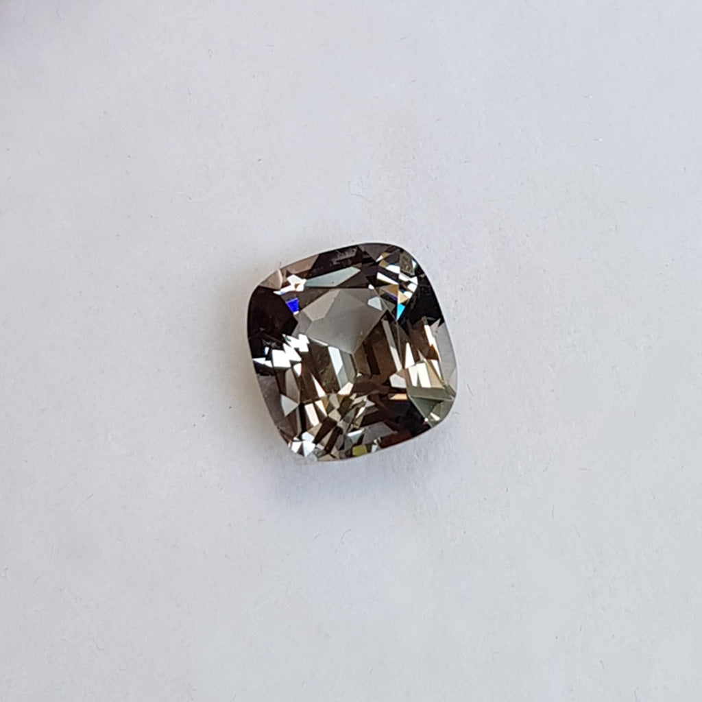 Cushion cut grey spinel, Sydney jeweller Lizunova Fine Jewels, Chifley Square
