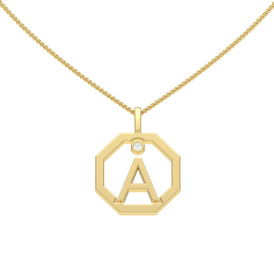 Personalised-Initial-A-diamond-yellow-gold-pendant-by-Sydney-jewellers-Lizunova