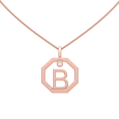 Personalised-Initial-B-diamond-rose-gold-pendant-by-Sydney-jewellers-Lizunova