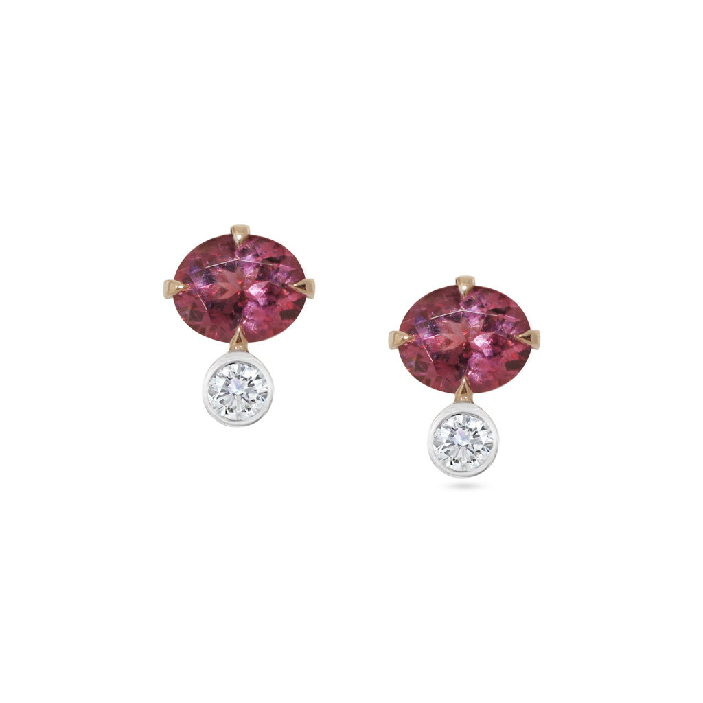 Pink-sapphire-diamond-rose-gold-earrings-by-Sydney-jewellers-Lizunova-Chifley-Square
