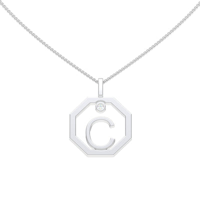 Personalised-Initial-C-diamond-white-gold-pendant-by-Sydney-jewellers-Lizunova