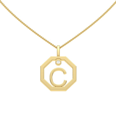 Personalised-Initial-C-diamond-yellow-gold-pendant-by-Sydney-jewellers-Lizunova
