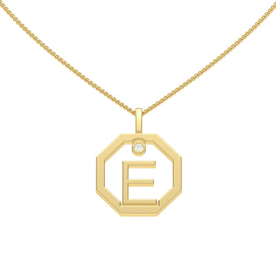Personalised-Initial-E-diamond-yellow-gold-pendant-by-Sydney-jewellers-Lizunova