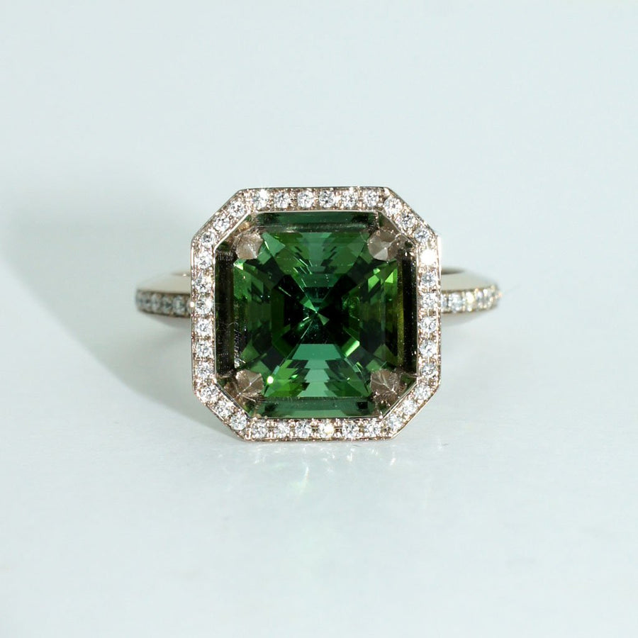 art-deco-tourmaline-diamond-white-gold-ring-Sydney-jewellers-Lizunova-Chifley-Square