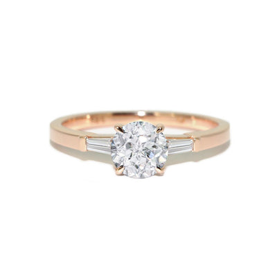 custom-made-diamond-engagement-ring-rose-gold-Sydney-jewellers-Lizunova-Chifley-Square