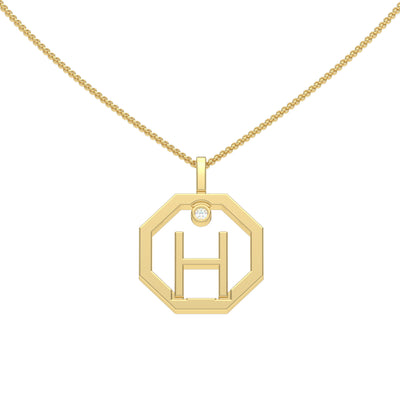 Initial-diamond-pendant-H-yellow-gold-Sydney-CBD-jeweller-Lizunova