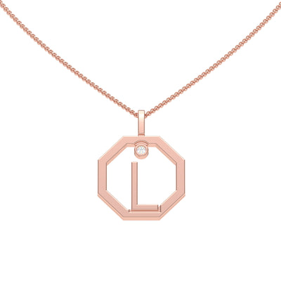 Personalised-Initial-L-diamond-rose-gold-pendant-by-Sydney-jewellers-Lizunova