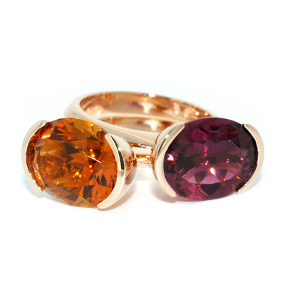 ring-stack-rose-gold-citrine-tourmaline-cocktail-rings-contemporary-sydney-jeweller-lizunova