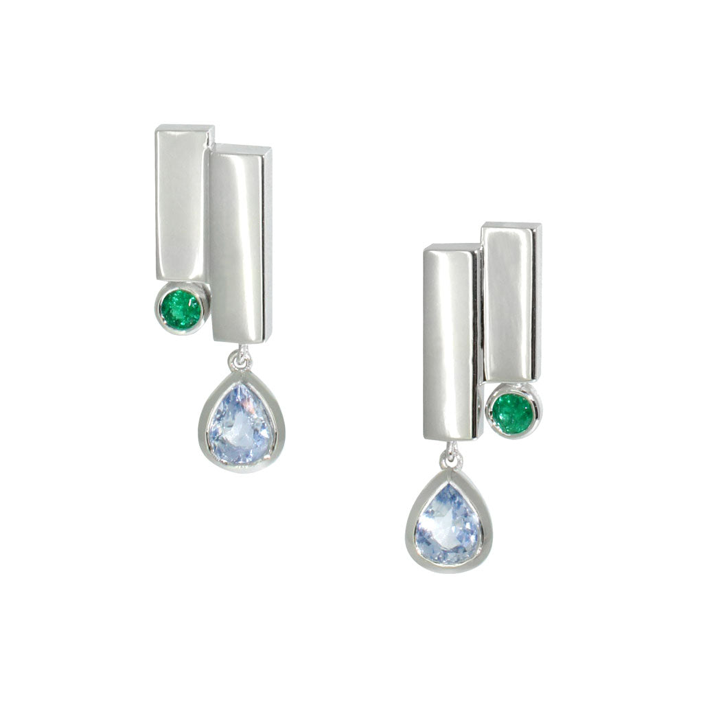 sapphire-emerald-white-gold-art-deco-earrings-sydney-jeweller-lizunova