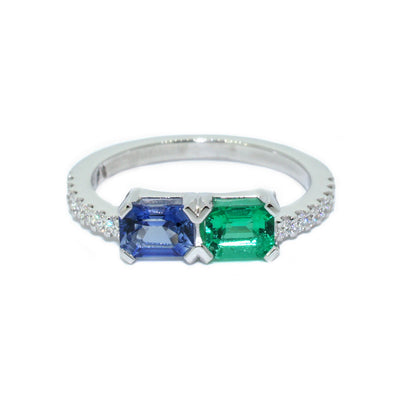 custom-engagement-ring-sapphire-emerald-diamond-white-gold-engagement-ring-sydney-jewellery-designer-lizunova