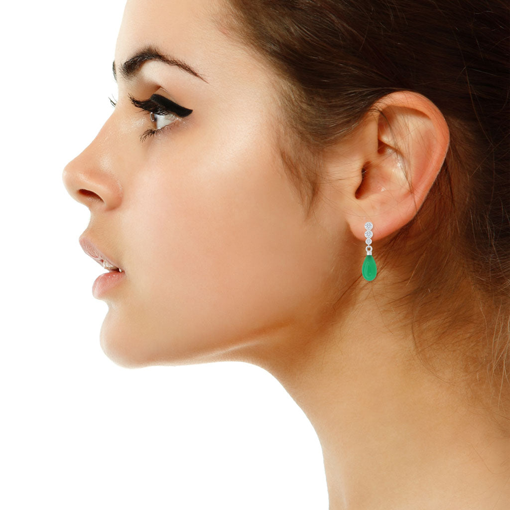 Diamond-chrysoprase-white-gold-earrings-Sydney-jewellers-Lizunova