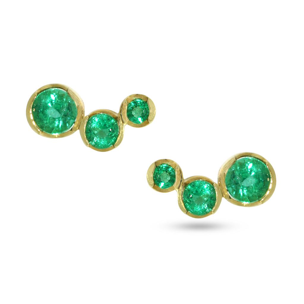 emerald-gold-stud-earrings-art-deco-contemporary-sydney-jeweller-lizunova