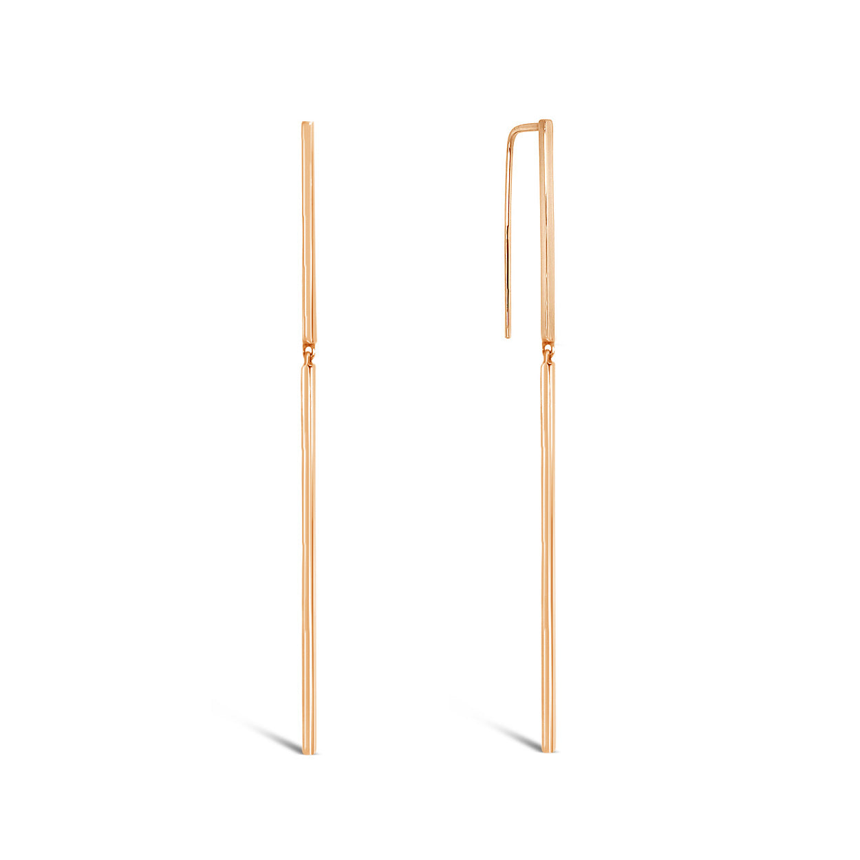 rose-gold-drop-Earrings-Line-long-minimalist-contemporary-sydney-jewellery-designer-lizunova