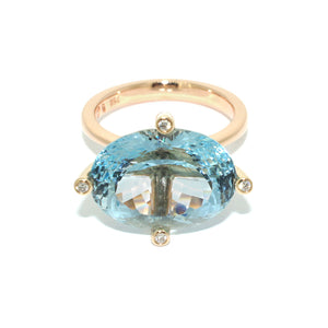 Aquamarine-rose-gold-cocktail-ring-handmade-by-sydney-jewellers-lizunova