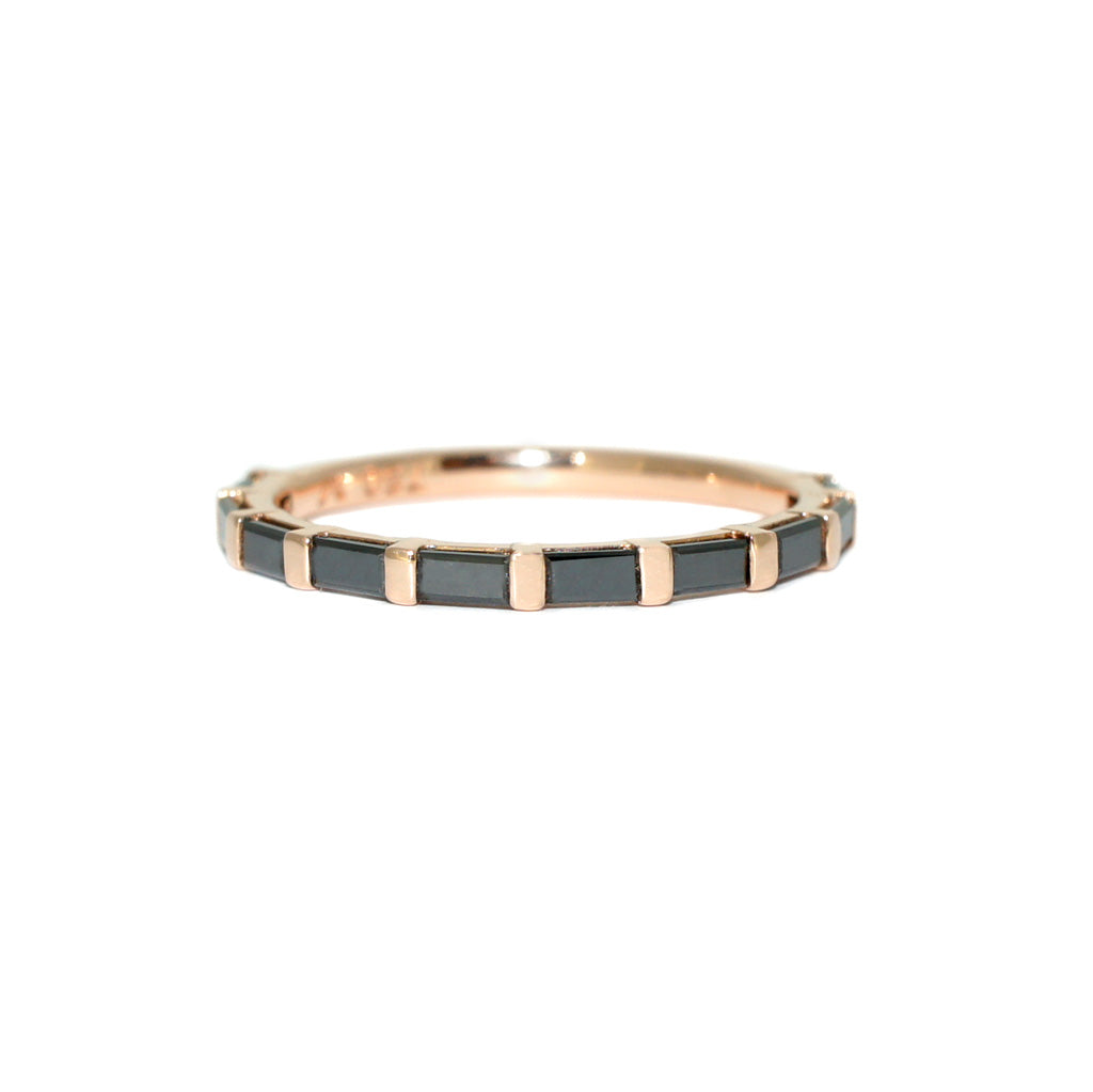 black-diamond-baguette-wedding-band-rose-gold-sydney-jewellers-lizunova