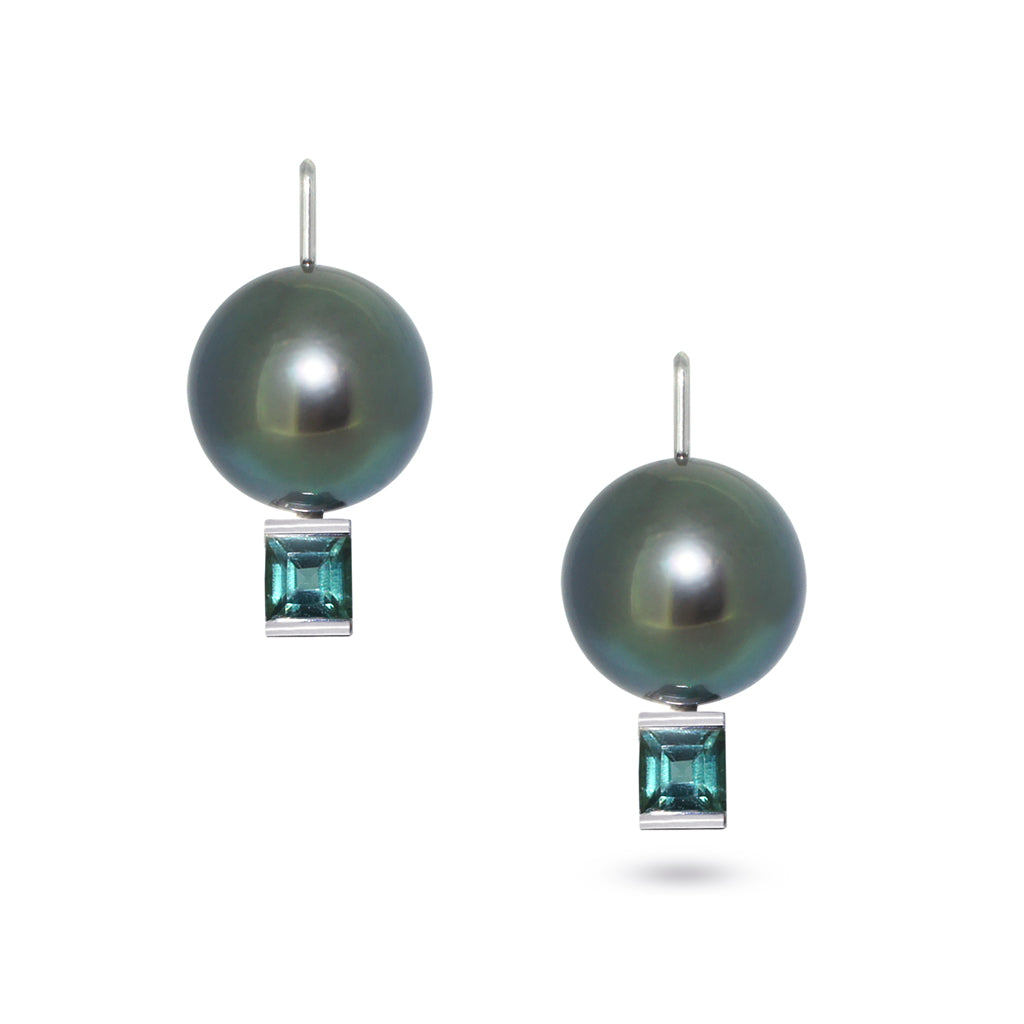 Tahitian-pearl-tourmaline-white-gold-earrings-Sydney-jewellers-Lizunova