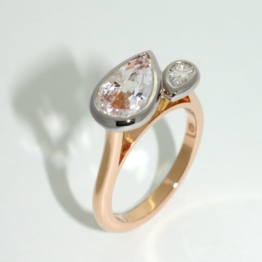 Engagement-ring-morganite-diamond-rose-gold-by-sydney-jewellery-designer-lizunova