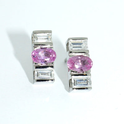 Custom-made-diamond-pink-sapphire-white-gold-earrings-sydney-jeweller-lizunova