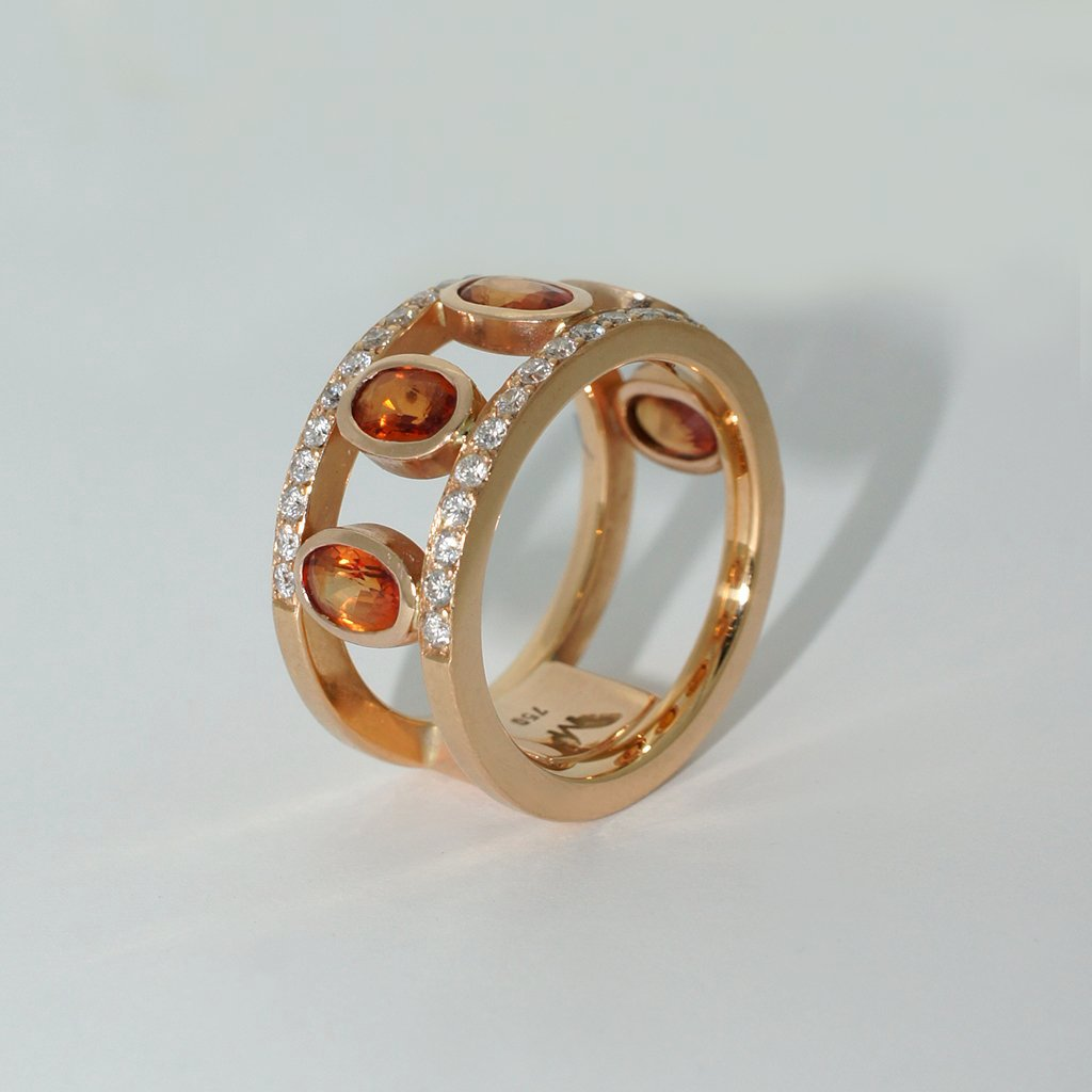 custom-made-rose-gold-sapphire-diamond-ring-contemporary-sydney-jeweller-lizunova